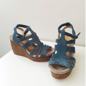 Coclico blue Suede shoes from Anthropologie